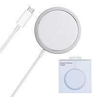 Магнитная беспроводная зарядка Apple MagSafe Charger for iPhone 12 | 12 Pro | 12 Pro Max (MHXH3), фото 1
