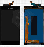 Дисплейный модуль (дисплей + сенсор) для Lenovo P70, оригинал, черный