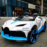 Детский электромобиль T-7657 EVA WHITE Bugatti, белый