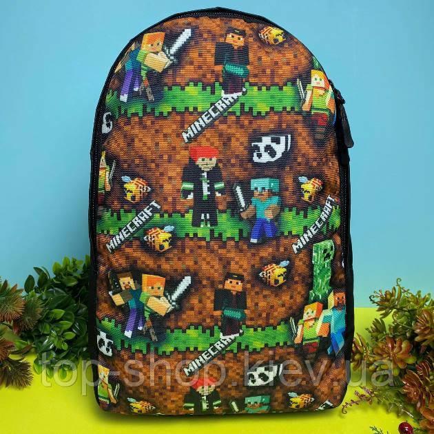 Портфель детский рюкзак для мальчика Майнкрафт (дитячий рюкзак Minecraft) в садик и в школу