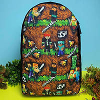 Портфель детский рюкзак для мальчика Майнкрафт (дитячий рюкзак Minecraft) в садик и в школу, фото 1