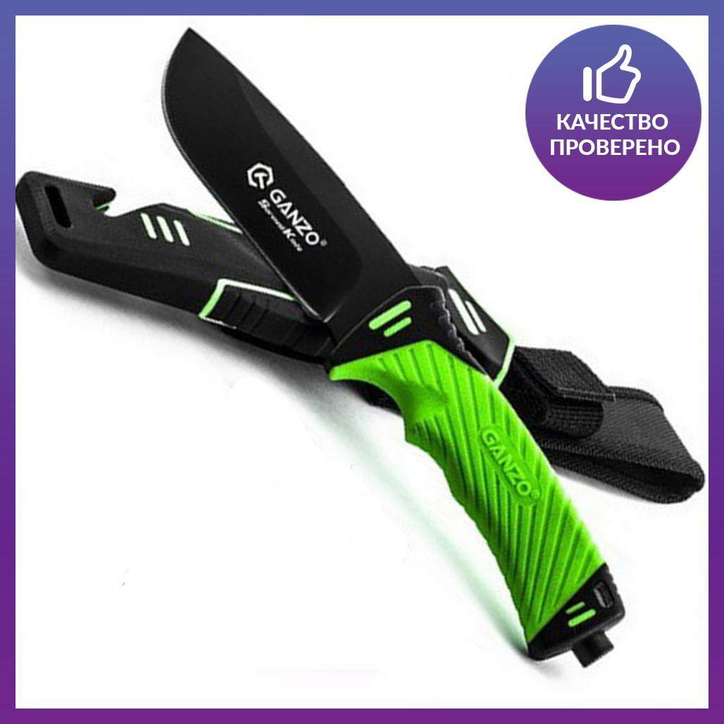 Нож выживания Ganzo (green) G8012-LG