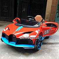 Детский электромобиль T-7657 EVA RED Bugatti, красный