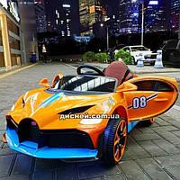 Детский электромобиль T-7657 EVA ORANGE Bugatti, оранжевый
