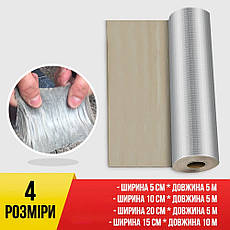 Бутилкаучукова стрічка герметизуюча фольгована HF 20см*5м, фото 3