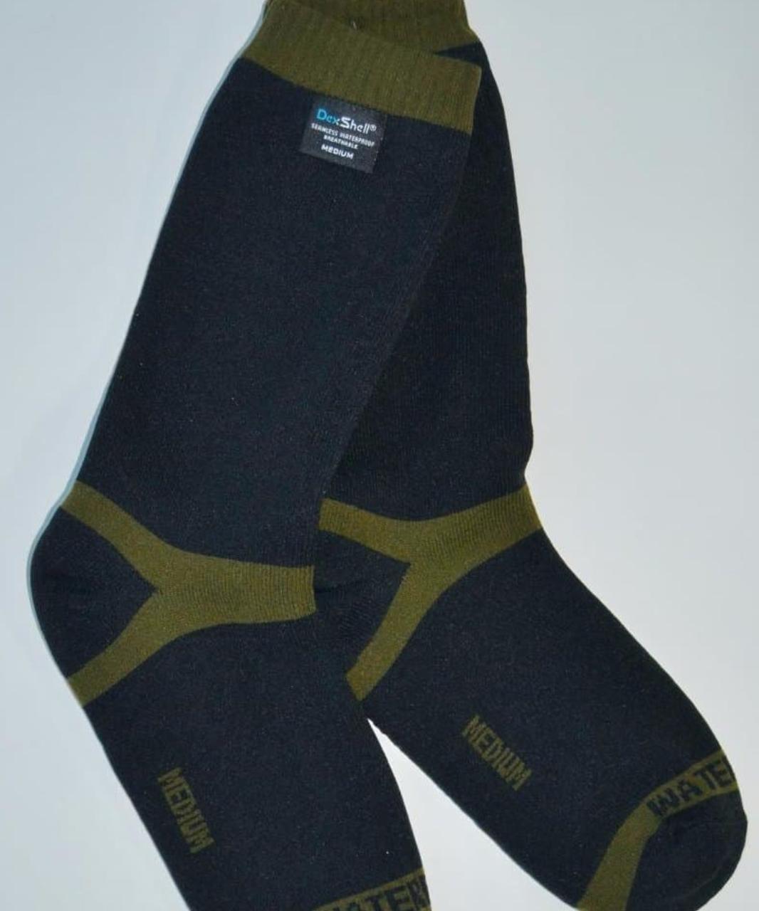 Водонепроницаемые носки Dexshell Trekking Green DS636 мембрана Porelle® (40% меринос) размер S