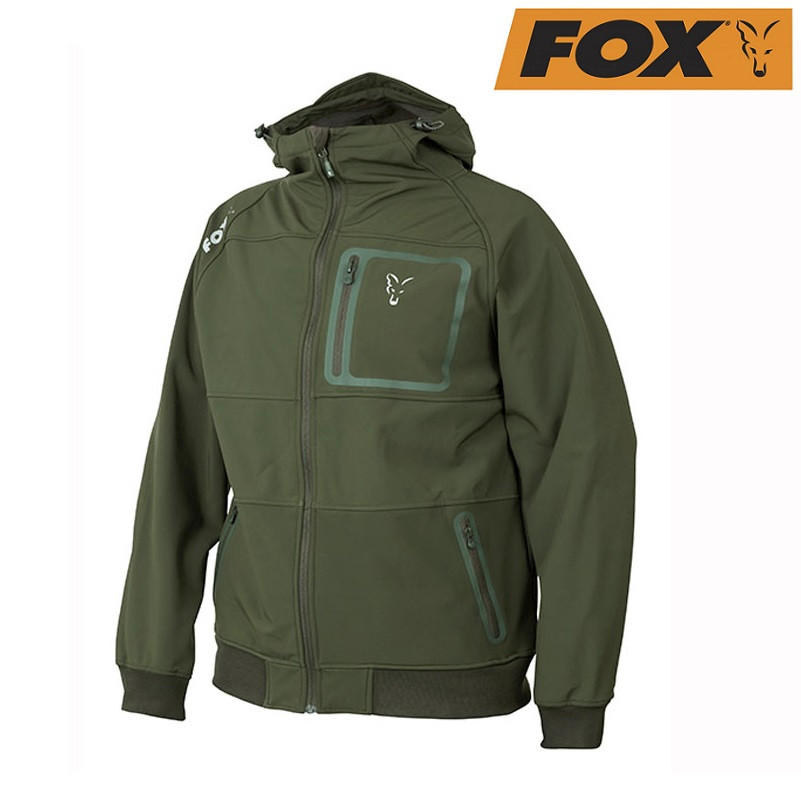 Дышащая куртка Fox Collection Green/Silver Shell Hoodie