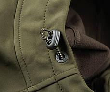 Дышащая куртка Fox Collection Green/Silver Shell Hoodie, фото 2