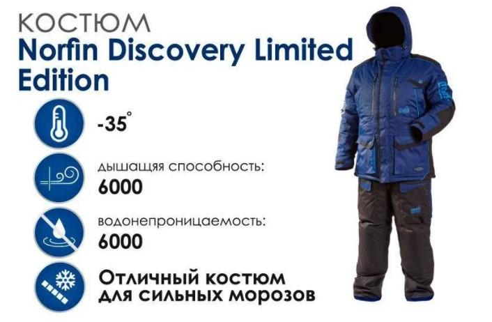Зимний костюм Norfin Discovery Limited Edition (синий 4513)
