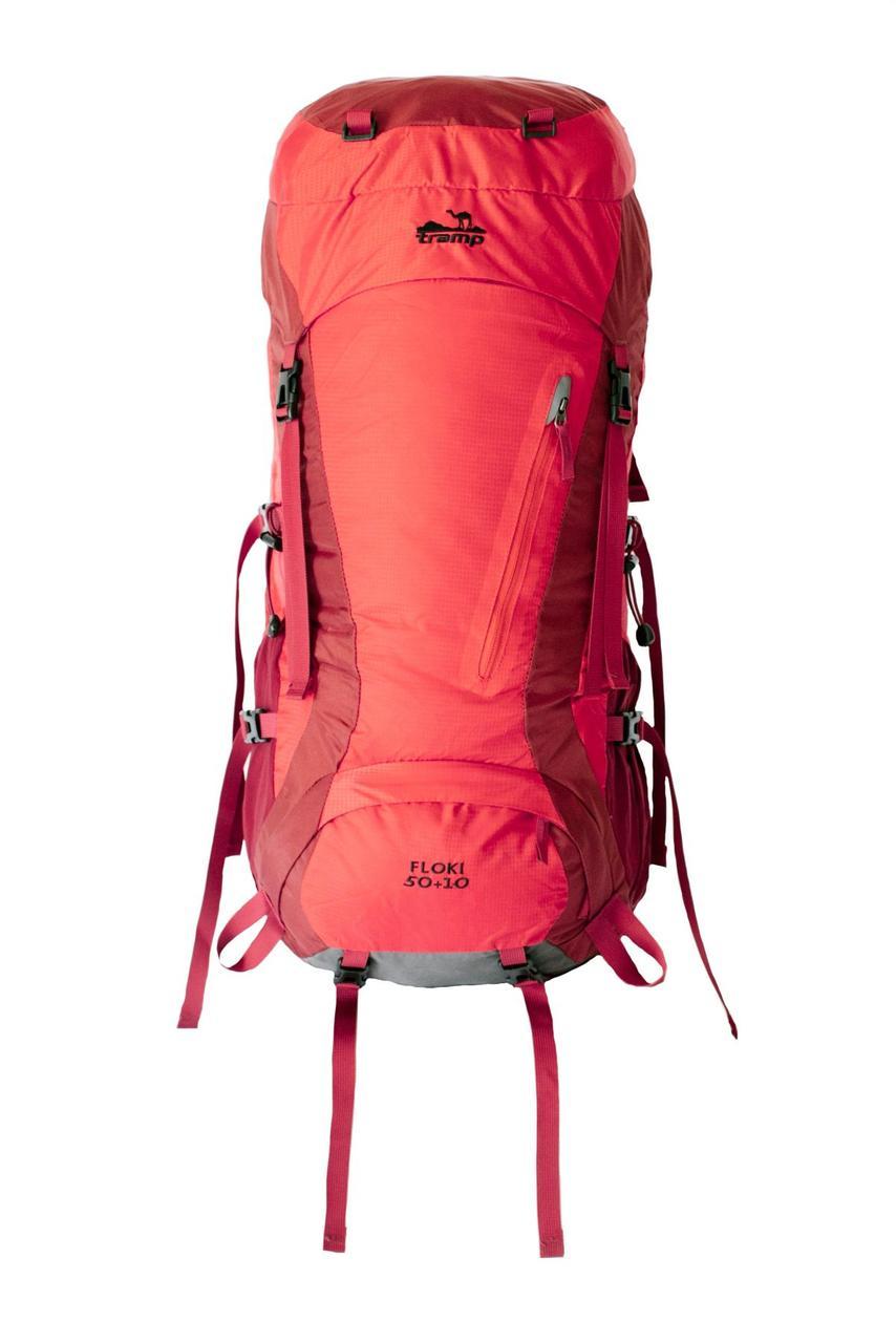 Туристичний рюкзак Tramp Floki 50+10 червоний, YKK (TRP-046-red)