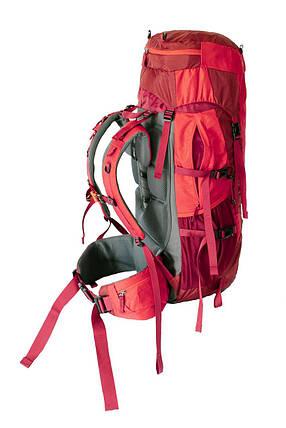 Туристичний рюкзак Tramp Floki 50+10 червоний, YKK (TRP-046-red), фото 2