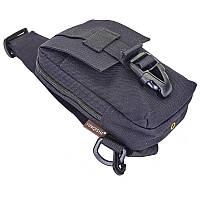 Тактическая сумка через плечо нагрудная-наплечная SILVER KNIGHT 900D 17 х 10 х 4 см Черный (TY-9119)