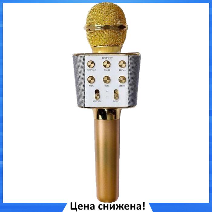 Микрофон караоке WSTER WS-1688 - беспроводной Bluetooth микрофон с 5 тембрами голоса