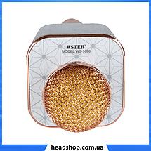 Микрофон караоке WSTER WS-1688 - беспроводной Bluetooth микрофон с 5 тембрами голоса, фото 3