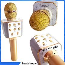 Микрофон караоке WSTER WS-1688 - беспроводной Bluetooth микрофон с 5 тембрами голоса, фото 2