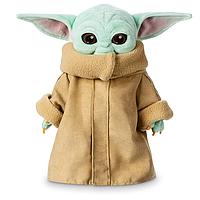 Плюшева Іграшка Малюк Йоду 27 см Мандалорец Star Wars The Child Plush The Mandalorian Disney B08DQ