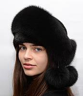"""Женская зимняя норковая шапка """"Орбита"""", фото 1"""
