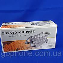 Прибор для нарезки картофеля фри картофелерезка Potato Chippe, фото 3