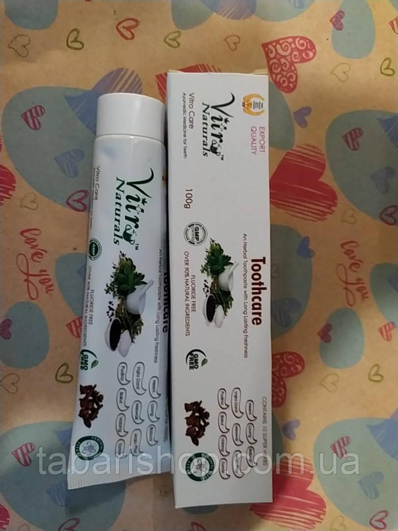 Зубная паста Витро, Toothpaste Vitro Naturals, 100 г