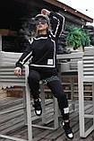 Костюм спортивный женский с начесом чёрный, серый 42-44, 46-48, фото 2
