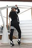 Костюм спортивный женский с начесом чёрный, серый 42-44, 46-48, фото 6