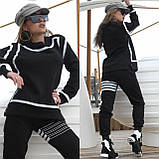 Костюм спортивный женский с начесом чёрный, серый 42-44, 46-48, фото 3