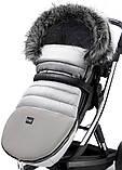 Зимовий конверт Bair Polar premium сірий - сіра шкіра, фото 4