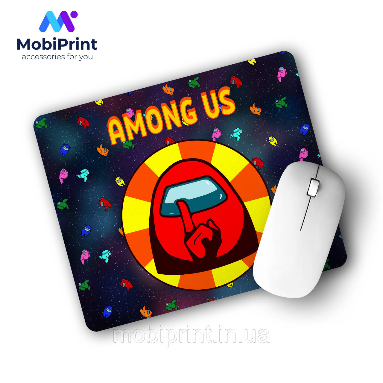 Коврик для мышки Амонг Ас Красный (Among Us Red) (25108-2412)