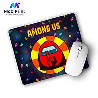 Коврик для мышки Амонг Ас Красный (Among Us Red) (25108-2412), фото 1
