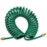 Шланг спиральный для пневмоинструмента 8*12мм*10м с переходниками (V-81210Р)