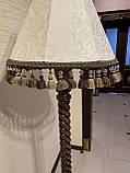 Торшер на витой ножке с резьбой/ Интерьерный торшер с абажуром/высота 1650мм/ LT1.1, фото 5