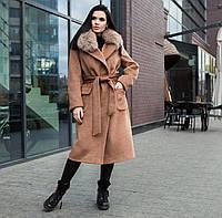 Шикарное зимнее пальто с натурльной опушкой, фото 1