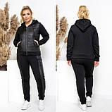 Теплий спортивний костюм жіночий Розмір 48 50 52 54 56 58 60 В наявності 2 кольори, фото 3