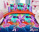 """Постельное белье детское ТАГ 1.5-спальное. Ткань ранфорс. Расцветка для девочки """"Пони"""", фото 2"""