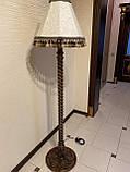 Торшер на витой ножке с резьбой/ Интерьерный торшер с абажуром/высота 1650мм/ LT1.1, фото 2
