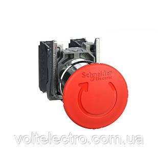 Кнопка аварійного відключення 22 мм з поверненням 1NO+1 NC, IP65
