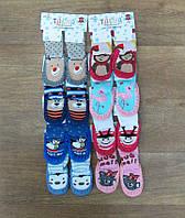 Детские носки - тапки Турция, детская турецкая одежда от производителя, турецкий трикотаж,махровые + кож.зам