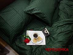 Двуспальный набор постельного белья 180*220 из Страйп Сатина №545917 KRISPOL™