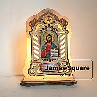 """Соляная лампа светильник икона """"Молитва для дома"""""""