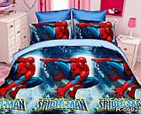 Постельное белье детское ТАГ 1.5-спальное. Ткань ранфорс. Расцветка для мальчика Человек паук, фото 3