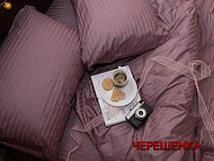 Двуспальный набор постельного белья 180*220 из Страйп Сатина №541511 KRISPOL™