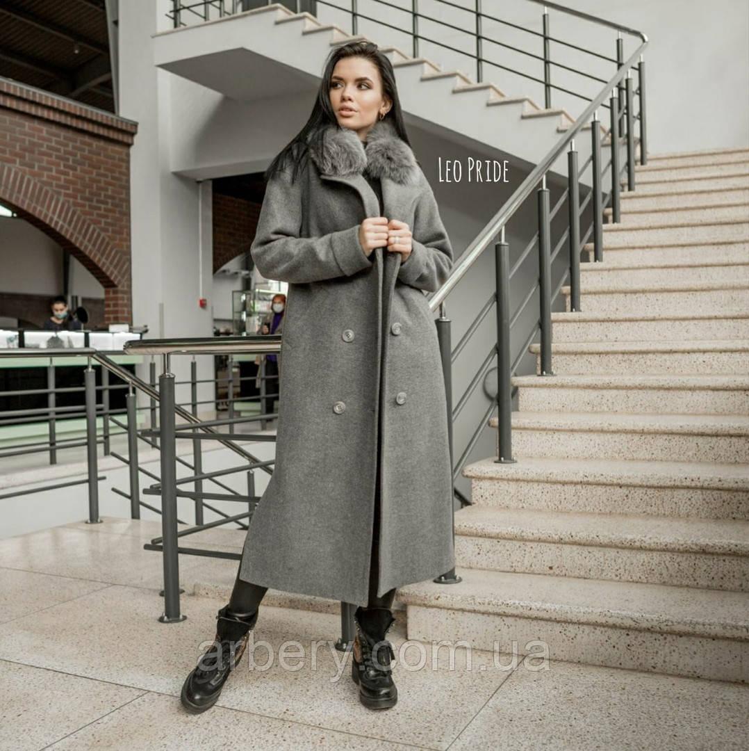 Шикарное зимнее пальто с натурльной опушкой
