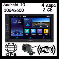Магнитола 2 din android 10 с навигацией wifi камерой заднего и переднего вида CYCLONE MP-7094A