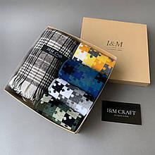 Подарочный набор I&M Craft для мужчин носки + шарф (120117)