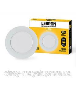 Светодиодный LED светильник LEBRON L-PR-341, 3W, Ø88 * 19мм, 4100K, 210LM, врезной, яркий свет