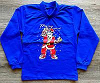 Детский тёплый новогодний гольфик MERRY CHRISTMAS с начёсом размер 38 и 40