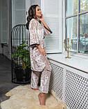 Комплект пижама+халат, фото 2