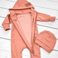 Детский утепленный ромпер (размеры 68 см,74 см,80 см,86 см,92 см), фото 1