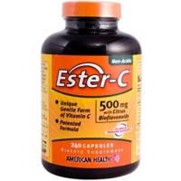 Органический Витамин С, Эстер-C, 500 мг, 240 капсул, с биофлавоноидами цитрусовых