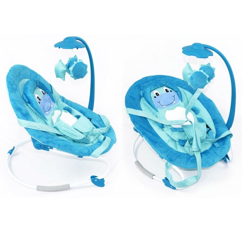 Детский шезлонг - качалка Baby Tilly арт. BB-0002 голубой